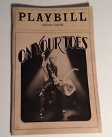 Playbill On Your Toes 1983 Virginia Theatre Dina Merrill NYC Broadway Theater