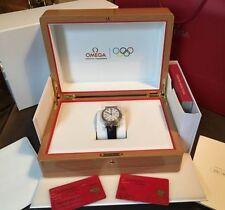 Men's Genuine Leather Strap Round OMEGA Wristwatches