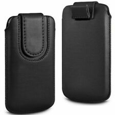Magnetic PU Leather Pull Tab Flip Case Cover For Binatone M250 Big Button Phone