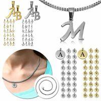Kettenanhänger Buchstabe Mit Od. Ohne Halskette Kette Alphabet Anhänger Name ABC