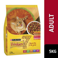 Friskies Adult 7 Favourites 5kg Purina Balanced Premium Dry Cat Food Meal NEW