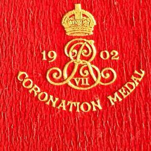 Rare Coronation Edward VII. 1902 Alexander Queen Consort Large Medallion