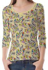 Damen-T-Shirts mit Rundhals S Papagei