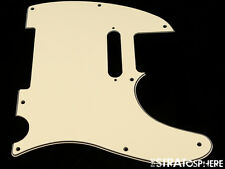 *NEW Cream Telecaster PICKGUARD for Fender USA Tele 3Ply 8 Hole *With Neck Holes