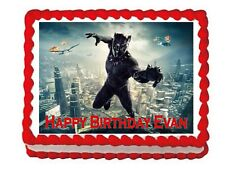 Black Panther party edible cake image cake topper frosting sheet decoration