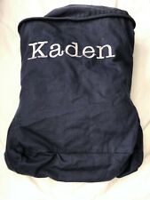 Oversized Pottery Barn Chair Slipcover Kaden Navy Blue