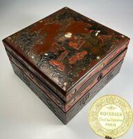 Antique French Chocolatier's Box, Boissier, PARIS, Napoleon III Chinoiserie 6.75