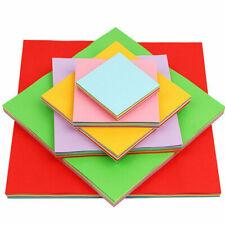 Bulk Handwork Colored Paper Assorted Origami 7/10/13cm Square 100 PCS