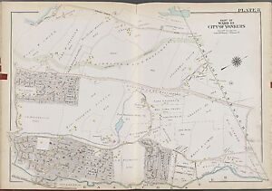 1911 WESTCHESTER YONKERS NY PS 15 CRESTWOOD UNDERHILL ST TO GREENBURG ATLAS MAP