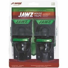 (2PACK) JAWZ Reusable Mouse Snap Traps  Easy Set trap  THE BEST MOUSE TRAP EVER