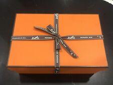 HERMES Orange Box Shopper Hermes Ribbon Cushion Set Designer