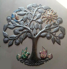 Colored Metal Tree of Life Outdoor Metal Art Handmade Wall Hanging Decor 60cm