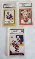 JOHAN FRANZEN ROOKIE 3 CARD LOT GMA GEM MINT 10I BEEHIVE GOLD,RED & UPPER DECK