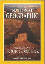 National Geographic September 1996 Hawks At Four Corner/Scotland/Gaza/Fire