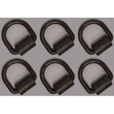 6 Weld On 12 D Rings Strap Tie Down Flatbed Truck Trailer Cargo Ring Amp Clip