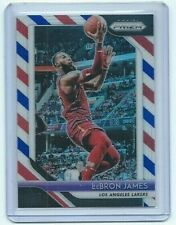 2018-19 PRIZM BASKETBALL CARD #6 RED WHITE BLUE LeBRON JAMES LOS ANGELES LAKERS