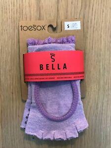 Toesox Bella toe less Grip Socks Blossom Lace Small - New