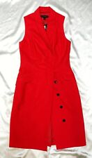 Hot Tomato Red Sleeveless Lightweight Wool Banana Republic Dress Sz 2  NWT $ 145