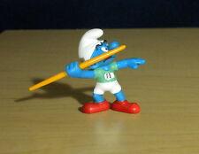 Smurfs Javelin Thrower Smurf Olympic Sport Figure Toy PVC Vintage Figurine 20744