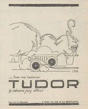 Z8781 Batterie TUDOR - Illustrazione - Pubblicità d'epoca - 1925 Old advertising