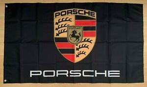 Porsche Car Flag Banner 3x5 ft 911 GT3 Boxster Carrera Turbo Cayman Spyder