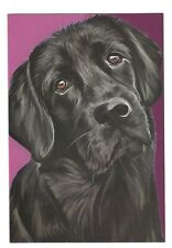 BLACK LABRADOR RETRIEVER DOG Blank Greeting Card w/ Envelope Pet Partners G8