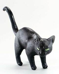 Fake Black Cat, Rubber, Halloween Decoration, Animal Prop, Fancy Dress #US