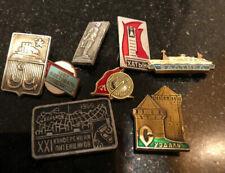 Ussr Metal Pins 8 Piece Vintage Lot Moscow Khatyn Baltic Kharkov Suzdal & More