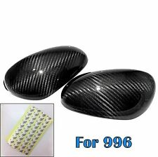 Dry Carbon Fiber Side Mirror Cover overlay shell For 98-04 996 911
