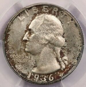 1936-D 1936 Washington Quarter PCGS MS64+ CAC Handsomely toned WOW!