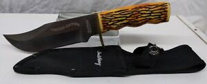 Uncle Henry Fixed Blade Knife Limited Edition Sheath Staglon Handle (TO114)