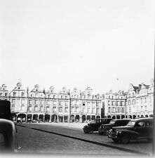 ARRAS c. 1950 - Autos Grand Place Pas de Calais - Négatif 6x6 - N6 ND48