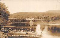 C22/ Big Flats New York NY Real Photo RPPC Postcard c1910 Chemung River Bridge