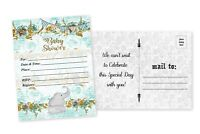20 Elephant Boy Baby Shower Invitations Boy Cards Invites Decorations Cards