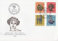 SW218) Switzerland 1975 Pro Patria - Archaeological Findings FDC.