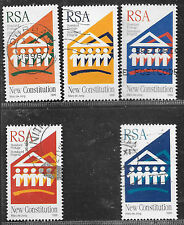 SOUTH AFRICA 1996 NEW DEMOCRATIC CONSTITUTION COMPLETE POSTAL USED SET 1374