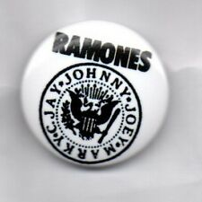 RAMONES BUTTON BADGE American Punk Rock Band - Blitzkrieg Bop, Road To Ruin 25mm