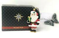 Christopher Radko Macy's Wee Jolly Gent Glass Santa Claus Christmas Ornament NWT