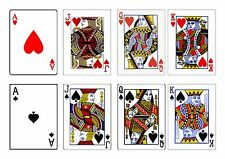 PLAYING CARDS BACKGROUND  DESIGN A4 CAKE TOPPER EDIBLE ICING SHEET/ FROSTING
