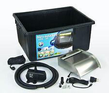 Ubbink Wasserfall-Set Nevada 30 Inox mit LED, Wasserspiel inkl. Pumpe, Becken...