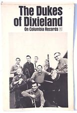 VTG THE DUKES OF DIXIELAND On Columbia RECORDS Poster W/ Table Top Easel Display