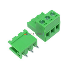 10Pcs KF2EDGK KF-3P 3PIN Right Angle Plug-in Terminal Connector 5.08mm Pitch