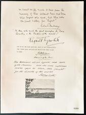 1926 - Litografía citación Lopez Halsey, Reginald Tyrwhitt, Thomas Jackson