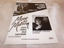MOON MARTIN - Publicité / Advert !! VINTAGE 70'S !! SHOTS FROM A COLD NIGHTMARE