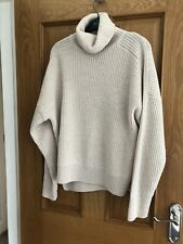 TOPSHOP CREAM/IVORY KNIT ROLL NECK JUMPER 10