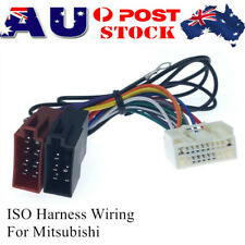 Car Harness ISO Adapter Wiring Cable Connector Lead Loom Reverse For Mitsubishi