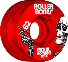 Rollerbones Bowl Bombers Quad Wheels 62mm x 30mm 101a RED NEW 8 pack
