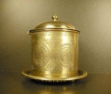 MH & Co Grande boite à bonbons en métal argenté c1900 silver plated Candy Box