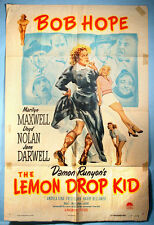 1951 Bob Hope The Lemon Drop Kid Original Movie Poster Damon Runyon Christmas