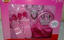 PLAY RIGHT Princess Fashion Dress Up Set Ages 5+ PINK Glitter NEW